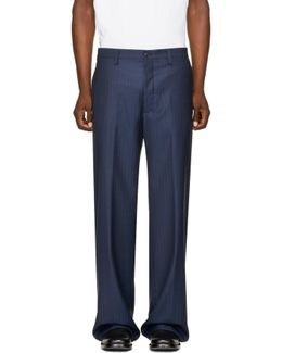 Blue Baggy Bummster Trousers