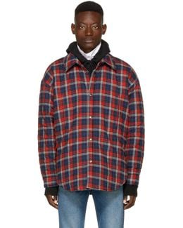 Red Oversized Flannel Shirt