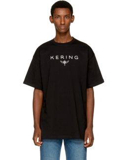 Black 'kering' T-shirt