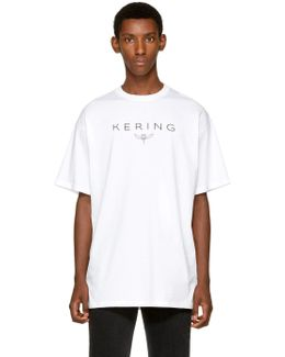 White 'kering' T-shirt