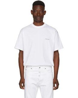 White Oversized Logo T-shirt