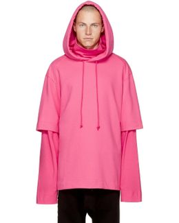 Pink Layered 'archive' Hoodie