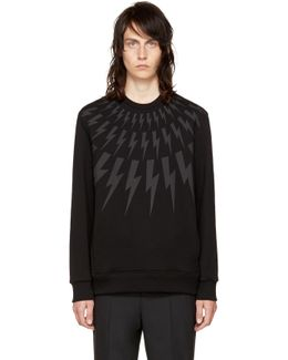 Black & Grey Fairisle Thunderbolt Sweatshirt