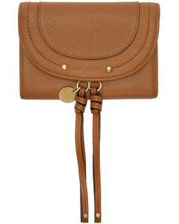 Tan Leather Compact Wallet
