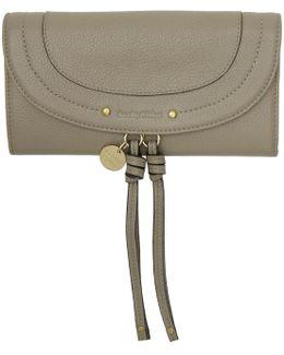 Grey Long Flap Wallet