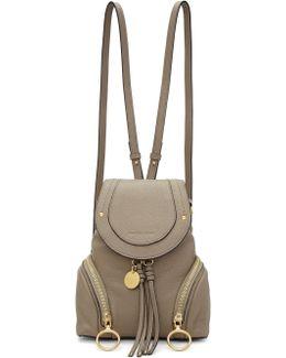 Grey Convertible Backpack