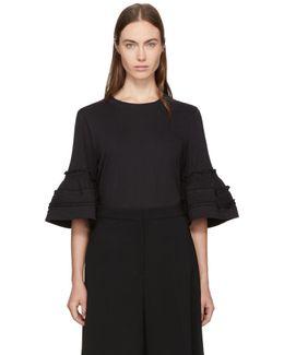 Black Bell Cuff Shirt