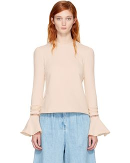 Off-white Bell Sleeve Sweatshirt