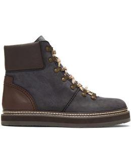 Black Nubuck Eileen Boots