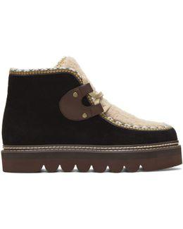 Black Shearling Klaudia Boots