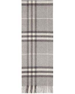 Grey Cashmere Giant Icon Scarf