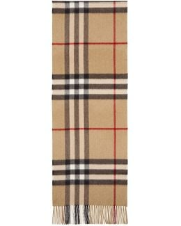 Tan Cashmere Giant Icon Scarf