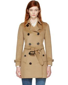 Camel Kensington Trench Coat