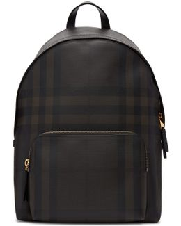 Brown Abbeydale London Check Backpack