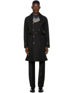 Reversible Black Tweed Delaney Trench Coat