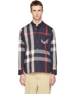 Navy Check Thornaby Shirt