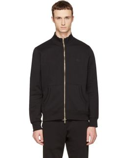 Black Sheltone Zip-up Sweater