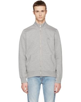 Grey Sheltone Zip-up Sweater