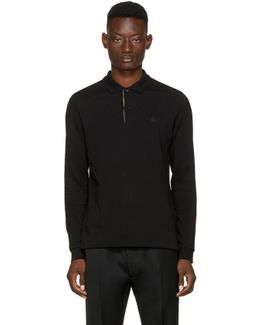 Black Long Sleeve Abown Polo