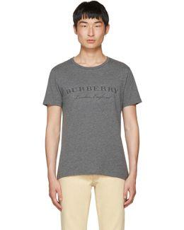 Grey Devoré Logo Martford T-shirt