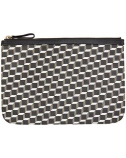 Black & White Perspective Cube Pouch
