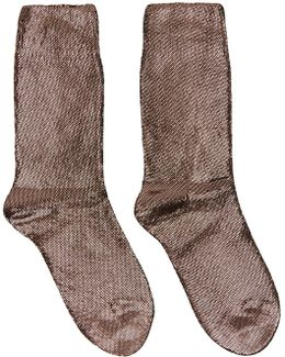 Gunmetal Laminated Socks