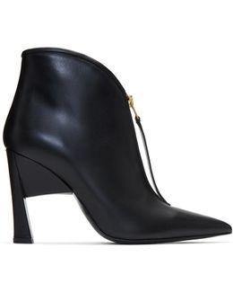 Black Pointed Half Boots