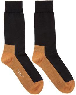 Black & Orange Merino Socks