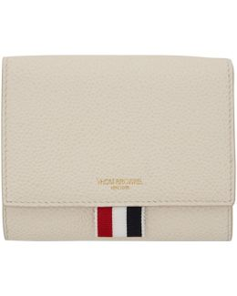 White Short Clasp Wallet