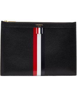 Black Small Zipper Stripe Tablet Holder