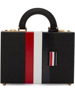 Black Altered Proportion Attaché Case Bag