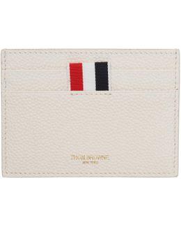 White Single Card Holder