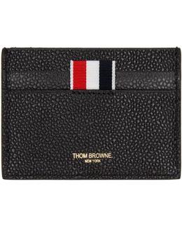 Black Diagonal Stripe Single Card Holder