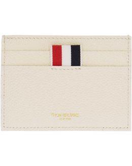 White Colorblock Single Card Holder