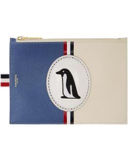 Blue Large Penguin Icon Coin Purse