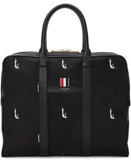 Black Small Penguin Icon Holdall Briefcase
