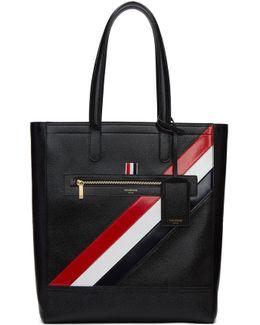 Black Stripe Tote Bag