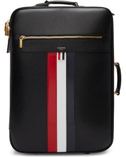 Black Check-in Wheeled Soft Suitcase