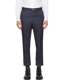 Navy Unconstructed Chinos