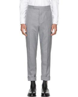 Grey Classic Selvedge Backstrap Trousers