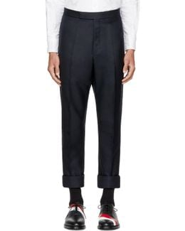 Navy Classic Selvedge Backstrap Trousers