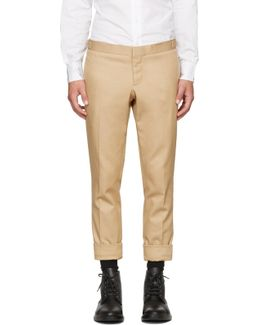 Khaki Denim Unconstructed Low-rise Skinny Trousers