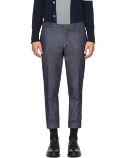 Navy Denim Unconstructed Low-rise Skinny Trousers