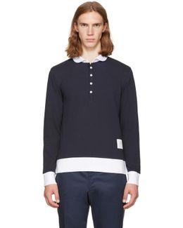 Navy Long Sleeve Collection Polo