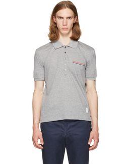 Grey Pocket Polo