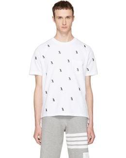White Penguin Piqué Crewneck T-shirt