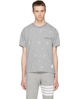Grey Skier Piqué Crewneck T-shirt
