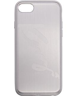 Silver Aluminum Signature Logo Iphone 7 Case
