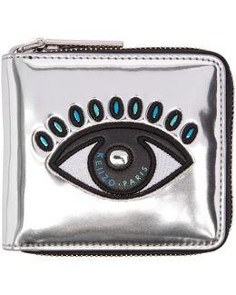 Silver Square Eye Wallet