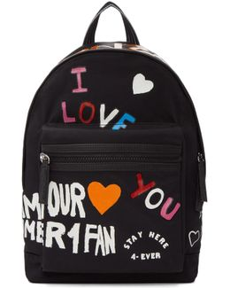 Black Limited Edition 'i Love You' Backpack